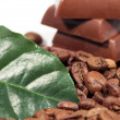 Chocolate-Coffee background — Stock Photo
