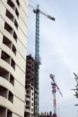 Building tower crane — Stock Photo
