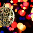 Christmas balls with blur background — Stock Photo