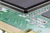 Close-up on a microchip — Stock Photo