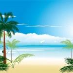 Beautiful tropical beach — Stock Vector #2105827