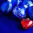 Royalty-Free Stock Photo: Blue Christmas baubles