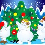 árbol festivo — Vector de stock