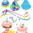 Stock Vector: Attributes for birthday