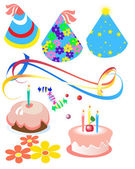 Attributes for birthday — Stock Vector