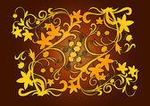 Element decorative gold — Stock Vector