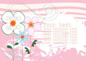 Background pink with flowers — Stock Vector