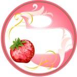 Chircle_strawberry_cream — Stock Vector