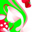 Royalty-Free Stock Vector Image: Cap of milk strawberry