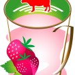 Royalty-Free Stock Vector Image: Cap of mil Strawberry