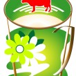 Cap of milk — Stock Vector