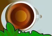 Cap čaje — Stock vektor