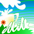 Spring milk — Stock Vector #2519714