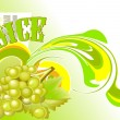 Stock Vector: Juice_grapes