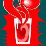 Juice fresh tomato — Stock Vector #2519848