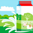 Milk Carton - Imagens vectoriais em stock