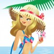Royalty-Free Stock Vector Image: Beach