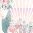 Girl - Spring - Stock Vector