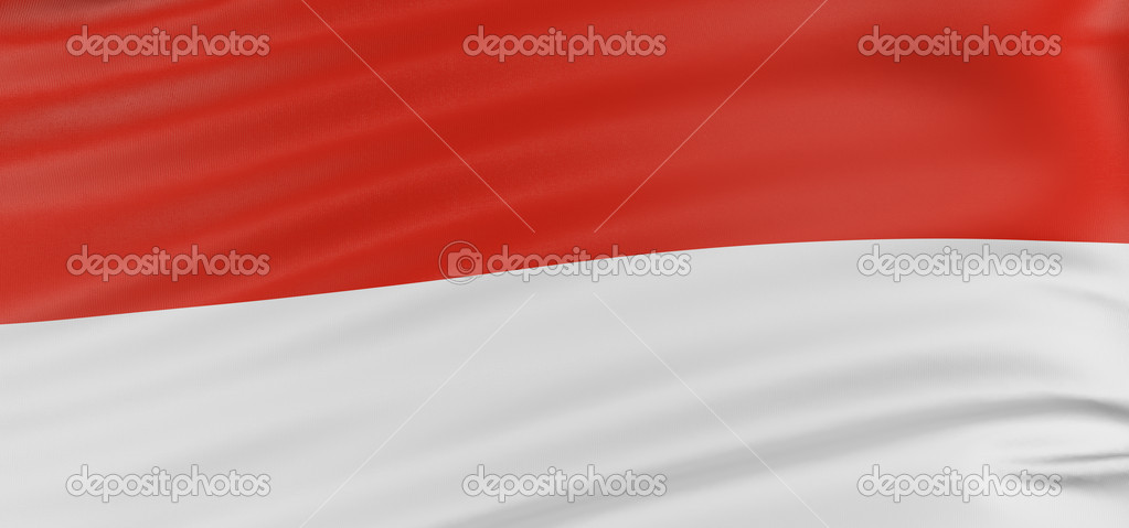 3D Indonesian flag with fabric surface texture. White background. — Stock Photo #1872858