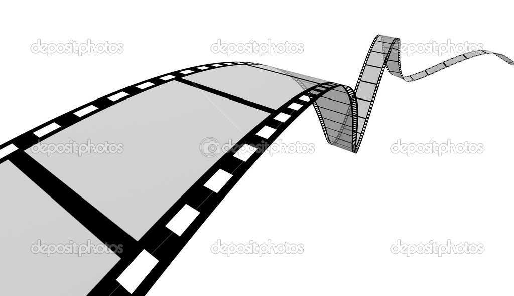 The film strip shape which will be used as a photo frame in picture