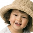 The child in a straw-hat. — Stock Photo