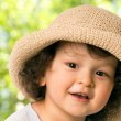 The child in a straw-hat. — Stock Photo #2036691