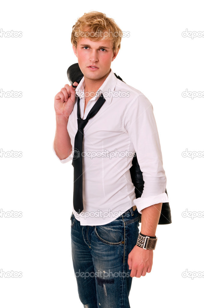 Portrait of young man on white. — Stock Photo #2034427
