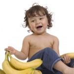 Baby with banana. — Stock Photo #2043079