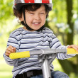 Stock Photo: Little biker