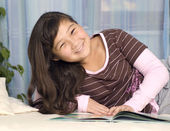 Girl with book. — Stock Photo