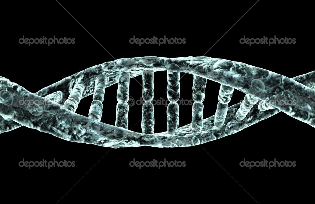 Diseased DNA strand. — Stock Photo #1849290