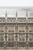 Snowy Munich City Hall — Stock Photo