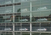 Automobile Showroom — Stock Photo