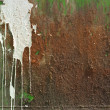 Foto de Stock  : Rust and Paint Drip