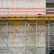 Construction with Concrete Wall — Stock Photo
