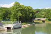 Small Hydroelectric Station and Canal — Stock Photo