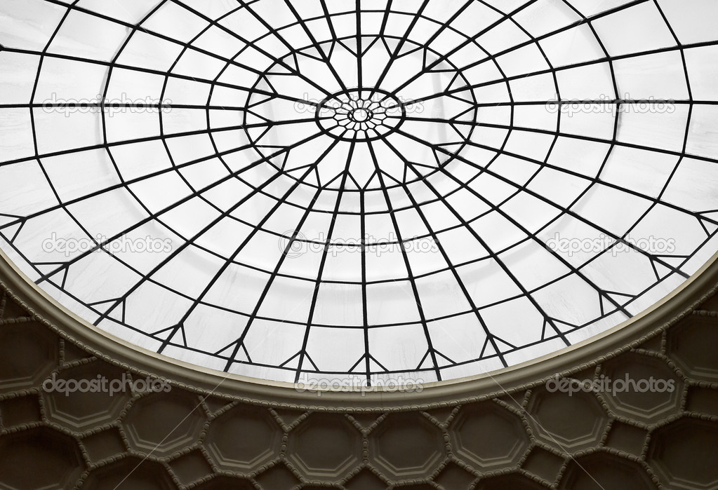 Skylight As Architectural Design Stock Photo