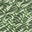 Ribbons in Green and White — Stock Photo