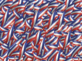 Ribbons in Red, White, and Blue — Stock Photo
