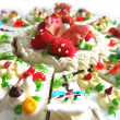 Creativelly designed creamy cake — Foto Stock