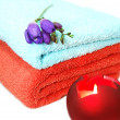 Royalty-Free Stock Photo: Towels and candles, spa relaxation