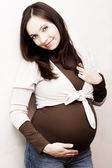 Smiling pregnant woman — Stock Photo