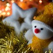 Stock Photo: Christmas snowman and star