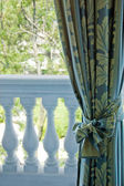 Luxury curtains over window — Stockfoto