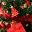 Christmas tree and gift — Stock Photo #1920118