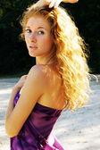 Sun in my hair — Fotografia Stock