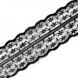 Stock Photo: Black delicate lace