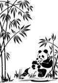 Panda — Stockvektor