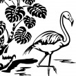 Stock Vector: Flamingo