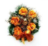 Bunch of orange flowers isolated on white — Stock Photo